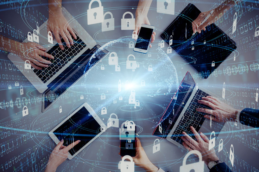 Users using mobile devices to access the cloud securely